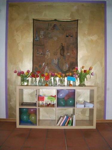 Wandteppich im Gemeindesaal