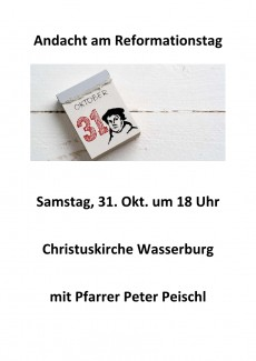 2020-10-31 Andacht am Reformationstag